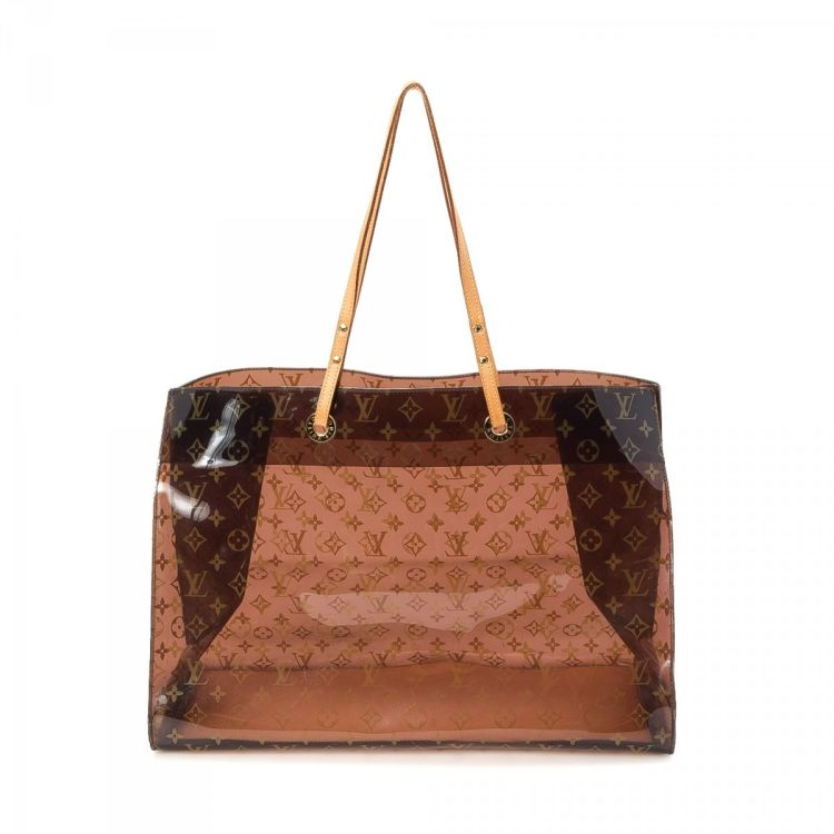 4bb90fcb759c LXRandCo guarantees the authenticity of this vintage Louis Vuitton Cabas  Cruise tote. This luxurious tote bag in brown is made in monogram plastic.