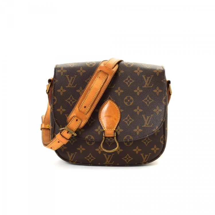 abc9ad36c309 ... this is an authentic vintage Louis Vuitton St-Cloud messenger    crossbody bag. This refined saddle bag was crafted in monogram coated canvas  in brown.
