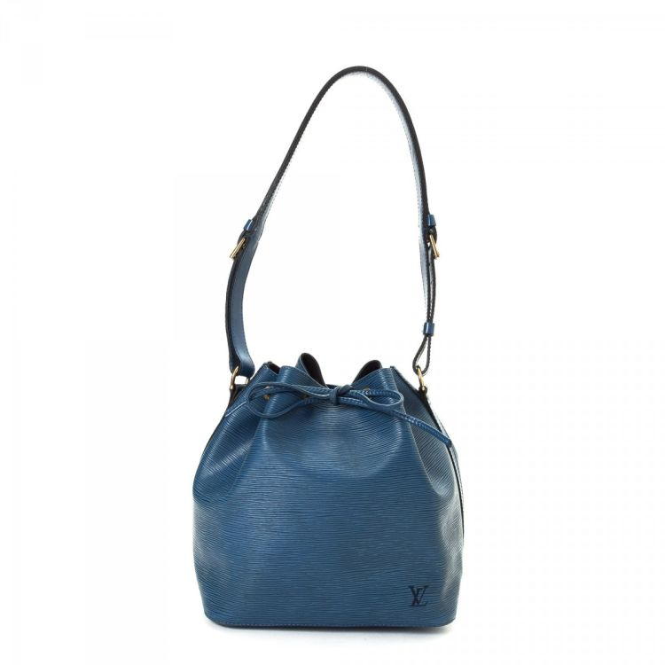 0b7dc8ec0c1f ... of this vintage Louis Vuitton Petit Noe shoulder bag is guaranteed by  LXRandCo. This signature purse was crafted in epi leather in beautiful blue.