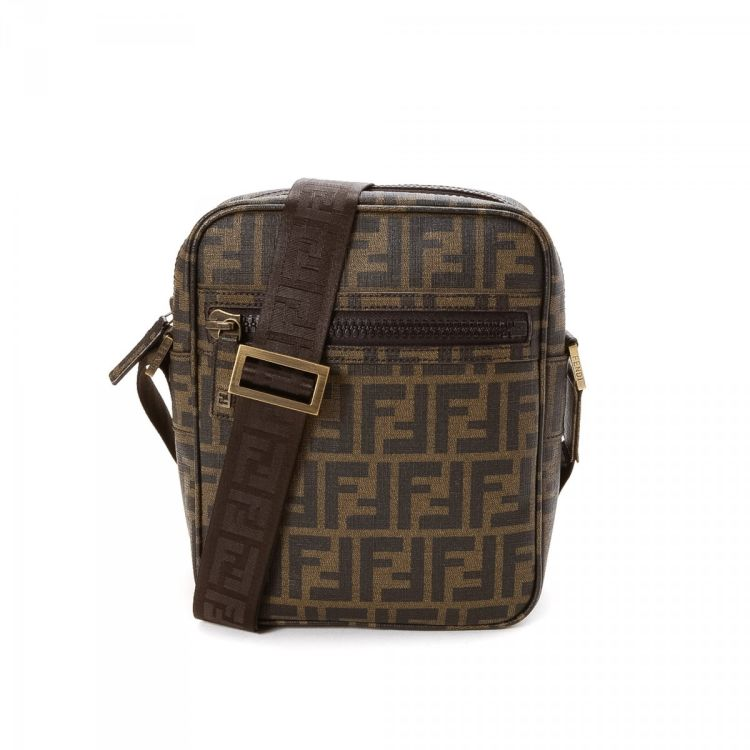 a5bc44a8f0a0 ... where to buy fendi crossbody bag zucca canvas lxrandco pre owned luxury  vintage 7b6d8 be6af