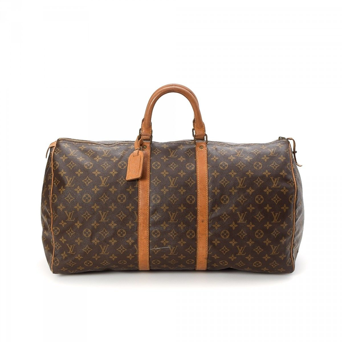louis vuitton keepall 55 monogram coated canvas lxrandco pre owned luxury vintage. Black Bedroom Furniture Sets. Home Design Ideas