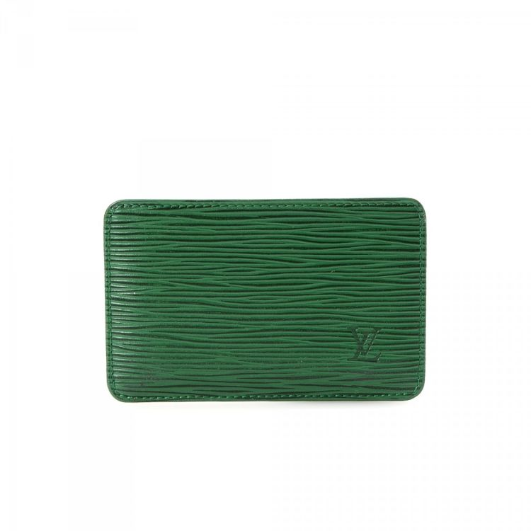 d24e98f3f2f50 ... louis vuitton card holder epi leather lxrandco pre owned luxury ...
