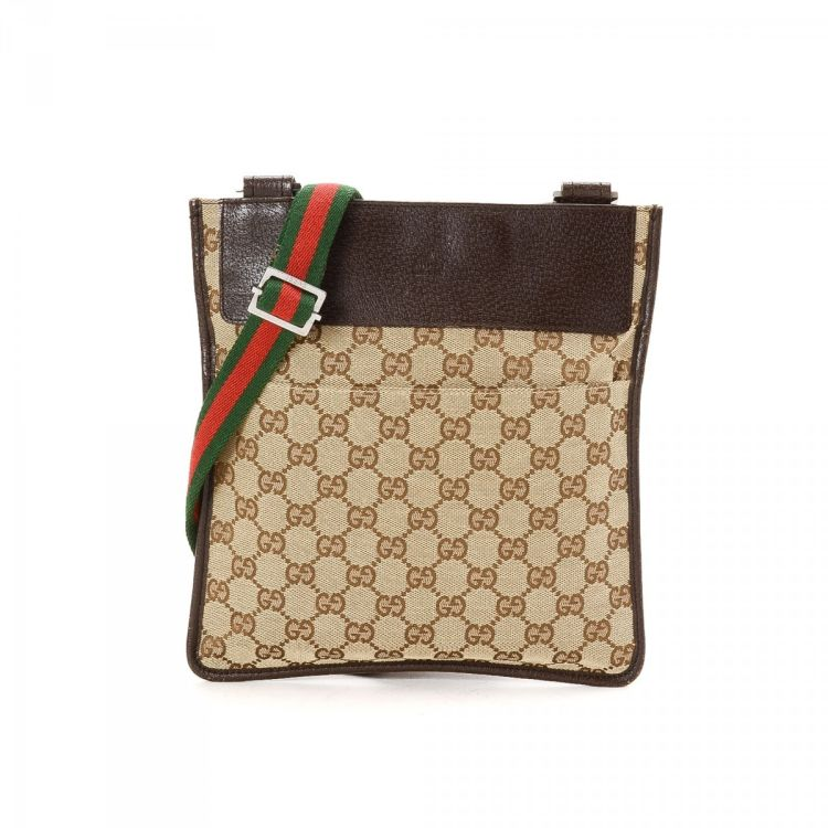 fcca121180b99b Gucci Vintage Web GG Crossbody Bag GG Canvas - LXRandCo - Pre-Owned ...