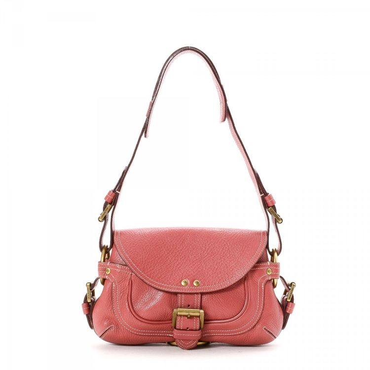 dbbe25979b LXRandCo guarantees the authenticity of this vintage Mulberry shoulder bag.  This lovely purse comes in beautiful pink leather. Very good condition  (A)