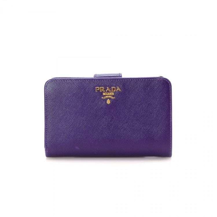 4a51cc857e44 ... canada lxrandco guarantees this is an authentic vintage prada compact  wallet. this practical wallet in