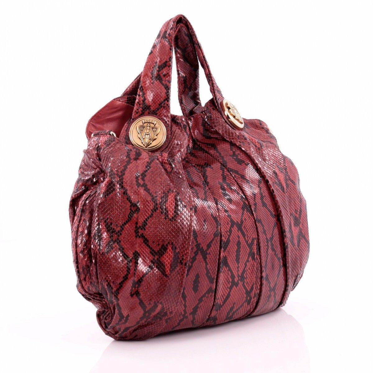 3162f1384ec Gucci Hysteria Python Two Way Bag Leather - LXRandCo - Pre-Owned ...