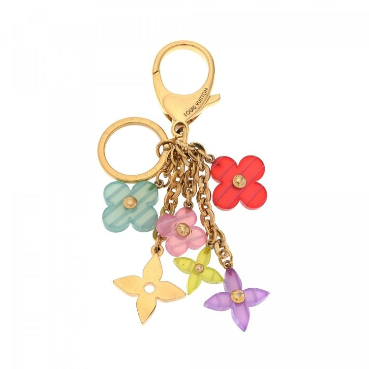 6d445929ef9e LXRandCo guarantees this is an authentic vintage Louis Vuitton Pop Flowers Key  Ring Bag Charm other jewelry. Crafted in brass