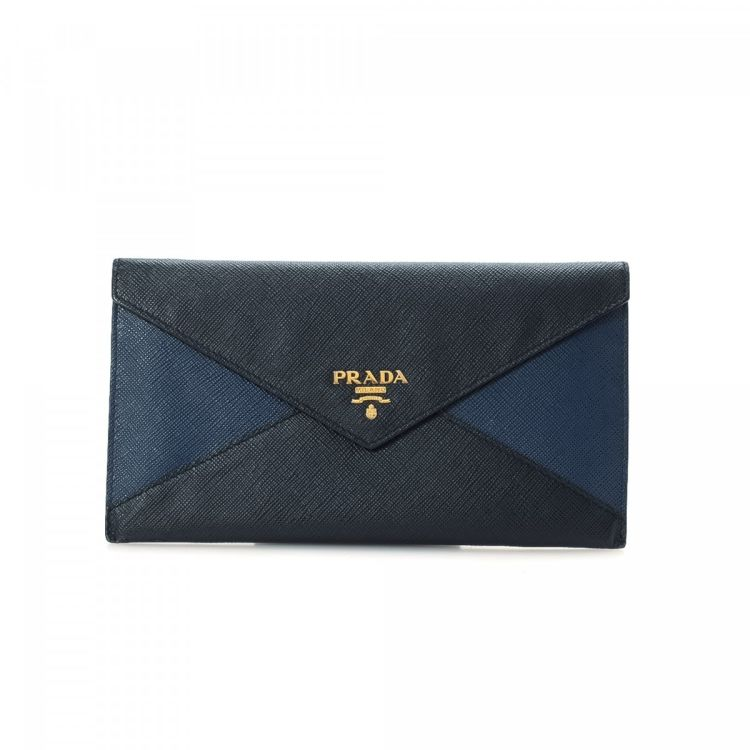 c6c86c5a6764 ... hot prada envelope wallet saffiano lux leather lxrandco pre owned  luxury vintage d405c fee06