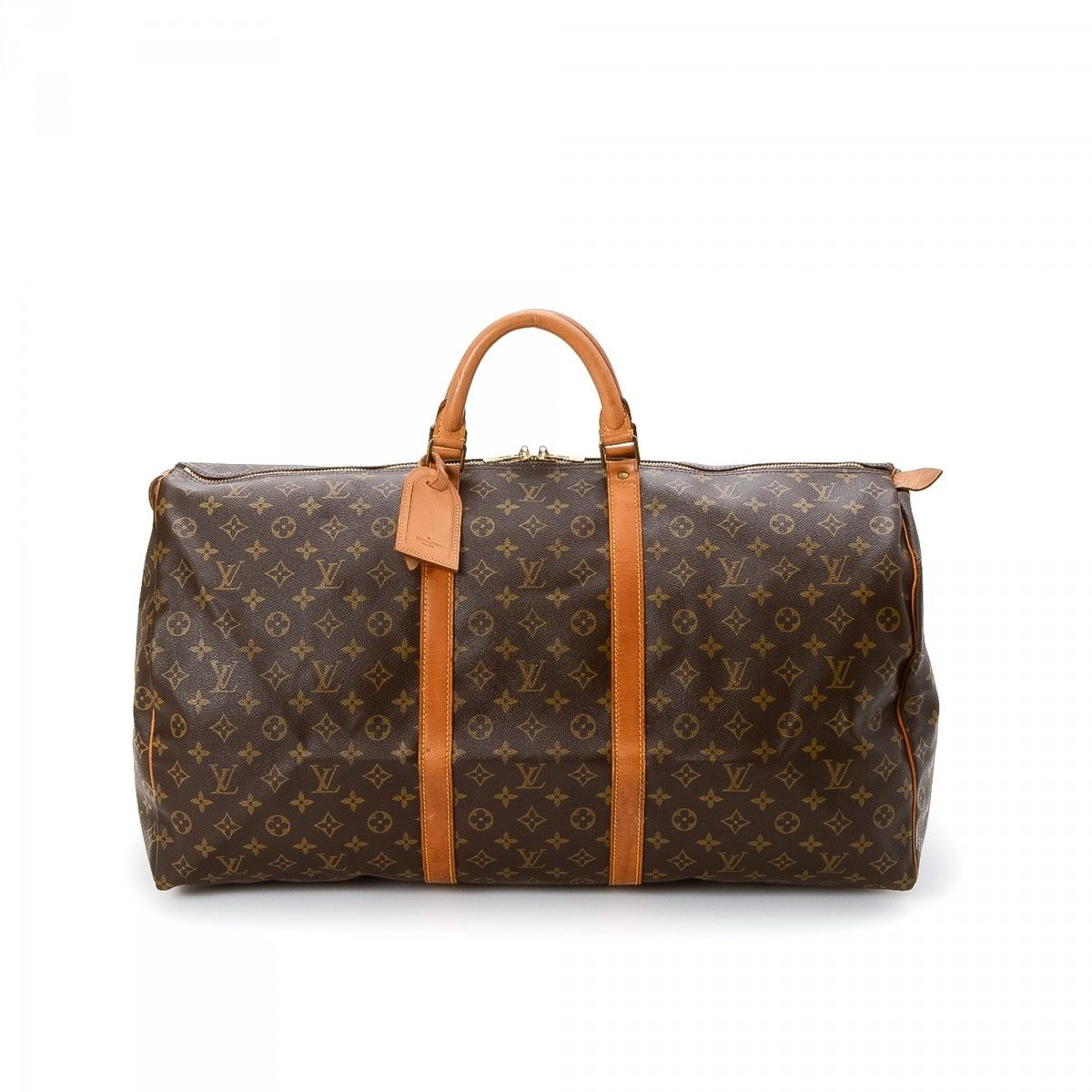 4a1df97dd13a Louis Vuitton Keepall 60 Monogram Coated Canvas - LXRandCo - Pre-Owned  Luxury Vintage