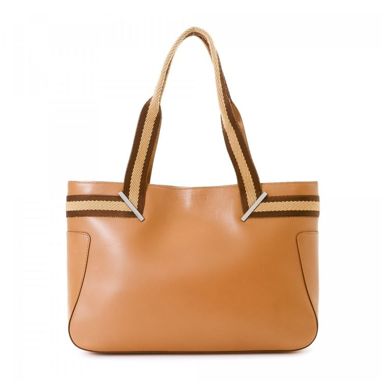 009e6b8ef80a5b LXRandCo guarantees the authenticity of this vintage Gucci tote. Crafted in  leather, this iconic tote bag comes in tan. Due to the vintage nature of  this ...
