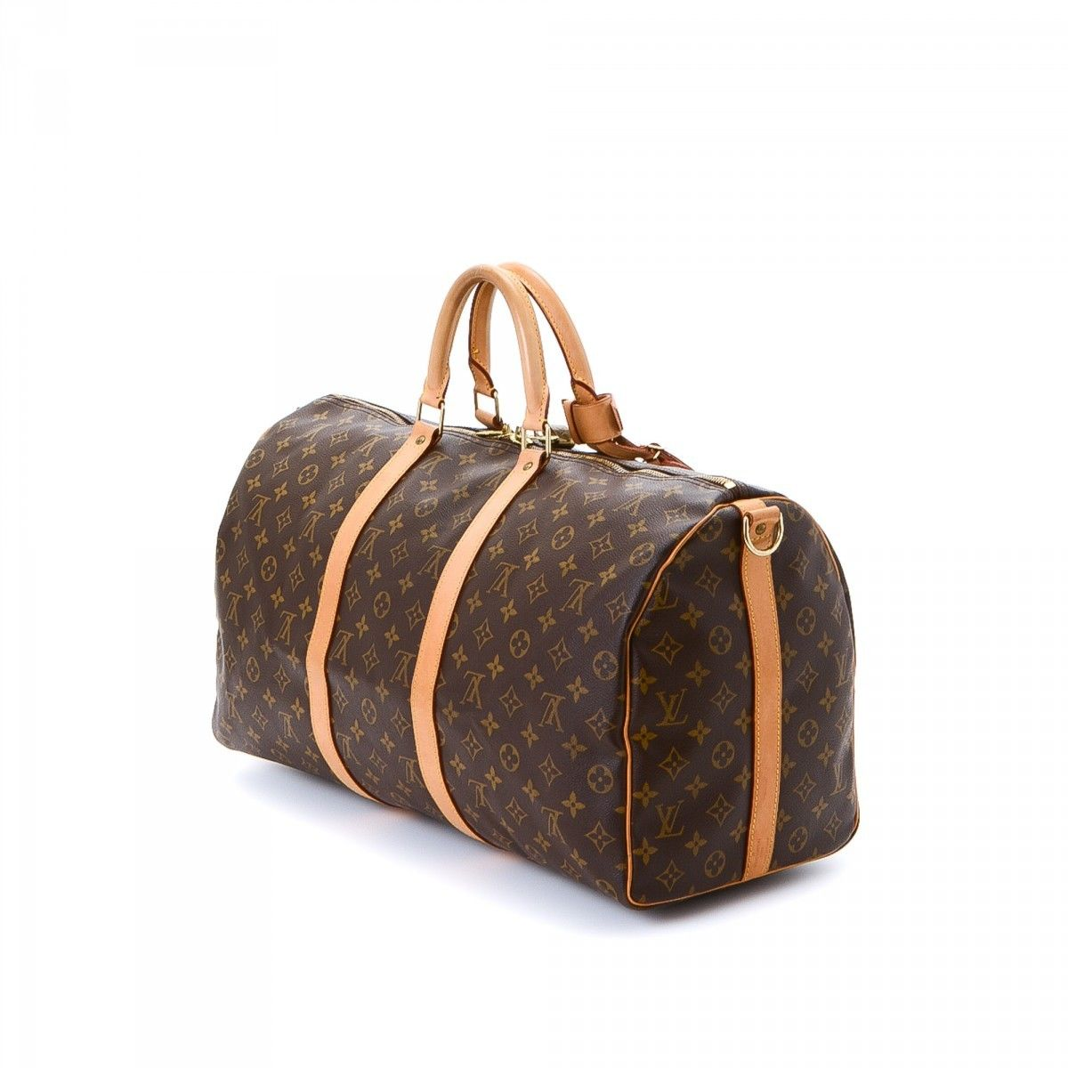 Louis Vuitton Keepall 50 Bandouliere Monogram Coated