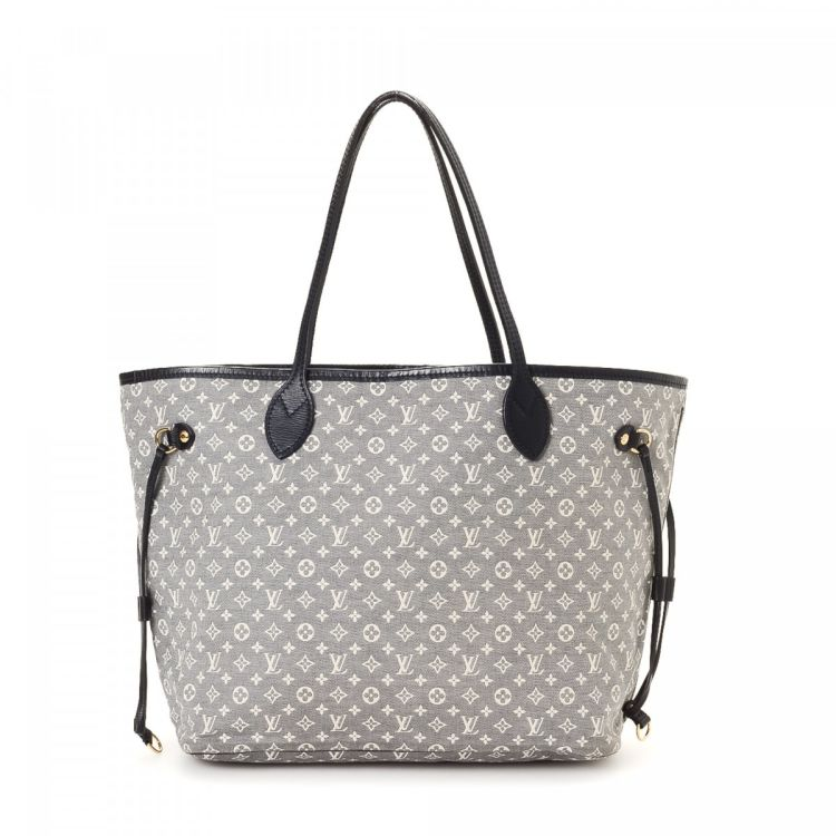 1dfd68ff7c80 LXRandCo guarantees this is an authentic vintage Louis Vuitton Neverfull MM  Monogram Idylle tote. Crafted in monogram mini lin canvas