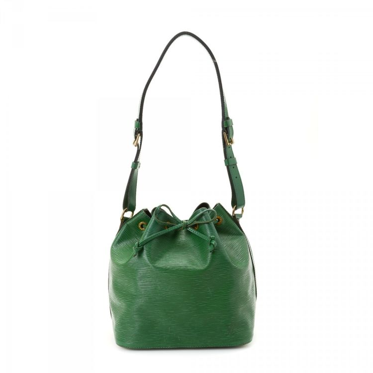 4f204fd6d1a6 ... guarantees this is an authentic vintage Louis Vuitton Petit Noe  shoulder bag. Crafted in epi leather