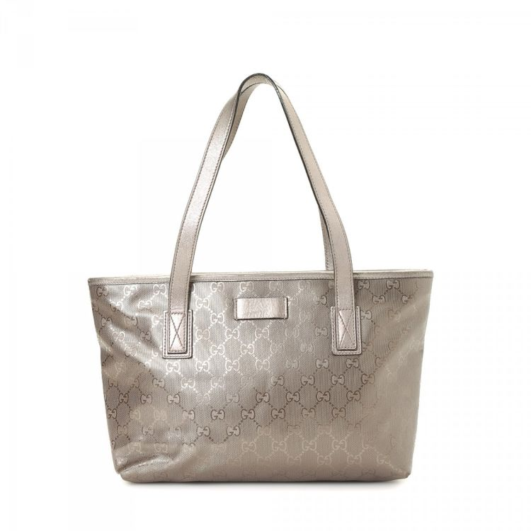 c3382a0101b6 Gucci Tote Bag Imprime Coated Canvas - LXRandCo - Pre-Owned Luxury ...