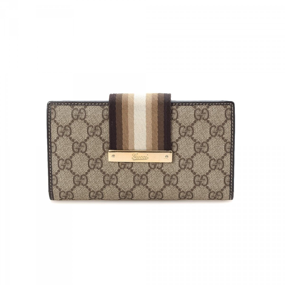 bb409498d6b Gucci Long Wallet GG Supreme Coated Canvas - LXRandCo - Pre-Owned ...