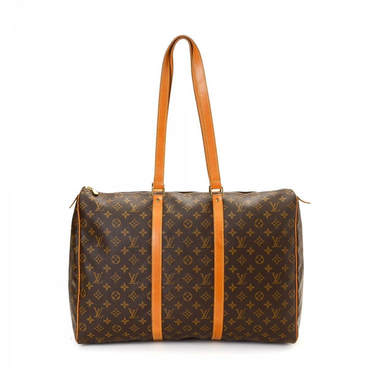 Louis vuitton sac flanerie 50 monogram coated canvas lxrandco pre owned luxury vintage - Sac big bag ...
