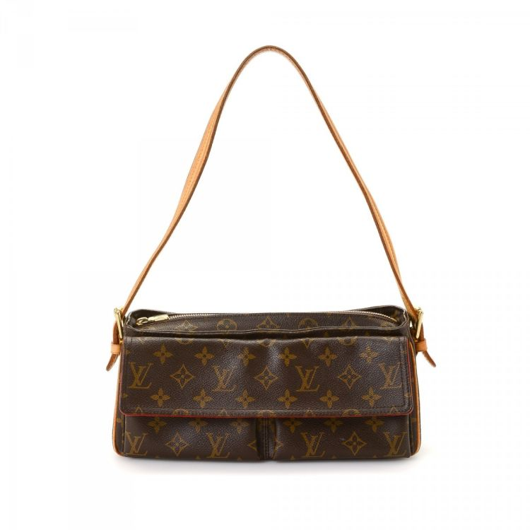 1b0993c04439 The authenticity of this vintage Louis Vuitton Viva-cite MM shoulder bag is  guaranteed by LXRandCo. This elegant shoulder bag was crafted in monogram  coated ...