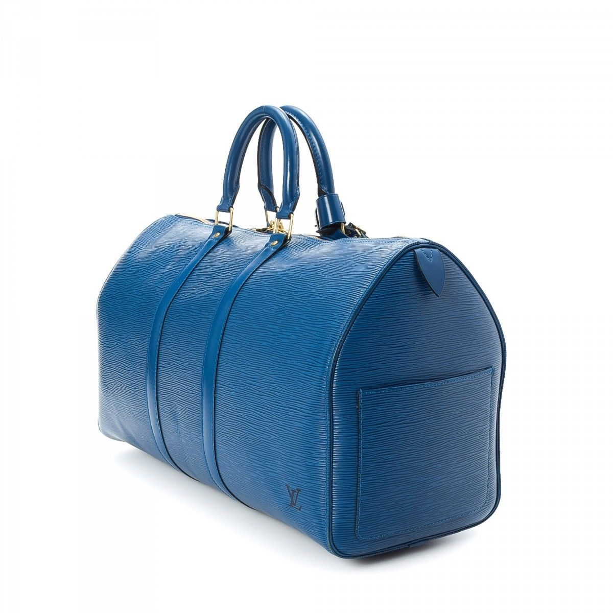 dc324b1ddcb1 Louis Vuitton Keepall 45 Epi Leather - LXRandCo - Pre-Owned Luxury ...