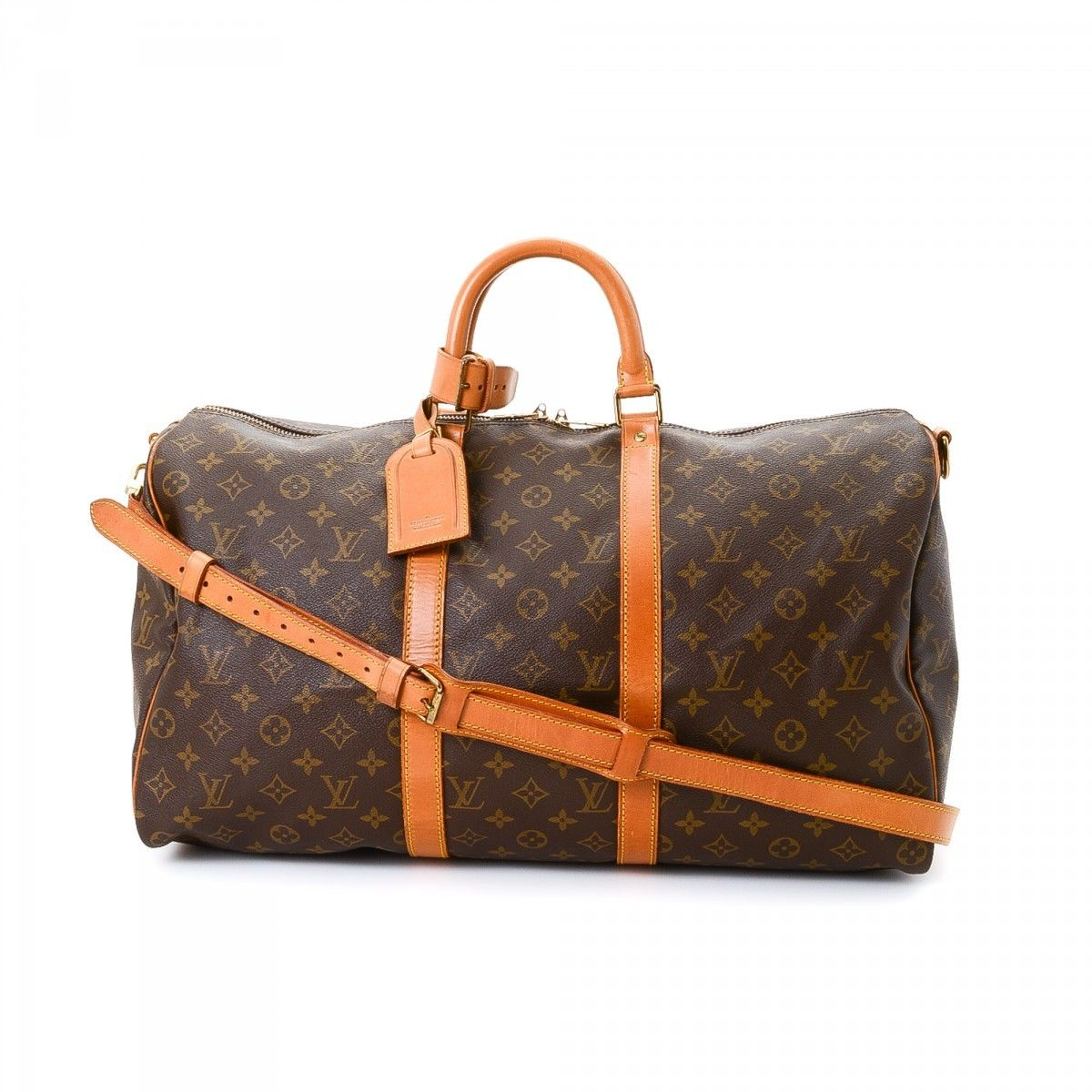43bf4d6f8840 Louis Vuitton Keepall 50 Bandouliere Monogram Coated Canvas - LXRandCo - Pre -Owned Luxury Vintage