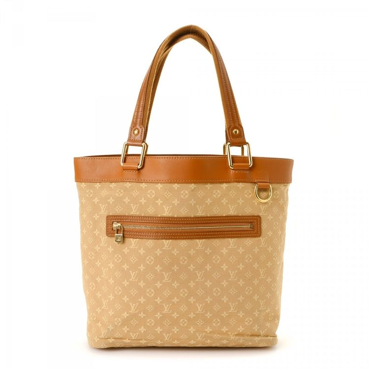 d8a91757e442 LXRandCo guarantees the authenticity of this vintage Louis Vuitton Lucille  GM tote. This sophisticated tote bag was crafted in monogram mini lin canvas  in ...