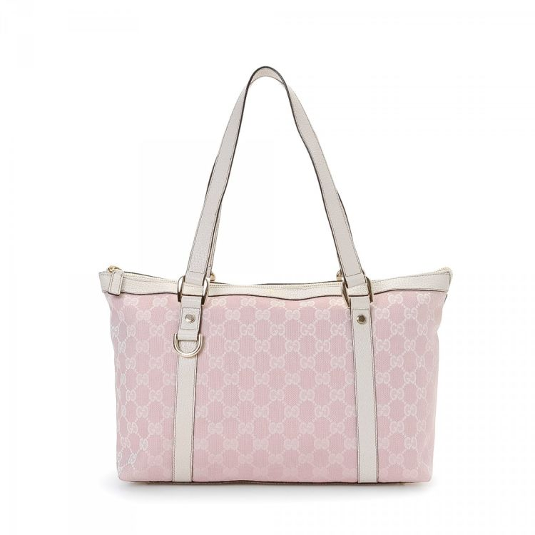 b98a034d7de LXRandCo guarantees this is an authentic vintage Gucci Abbey Handbag  shoulder bag. Crafted in gg canvas