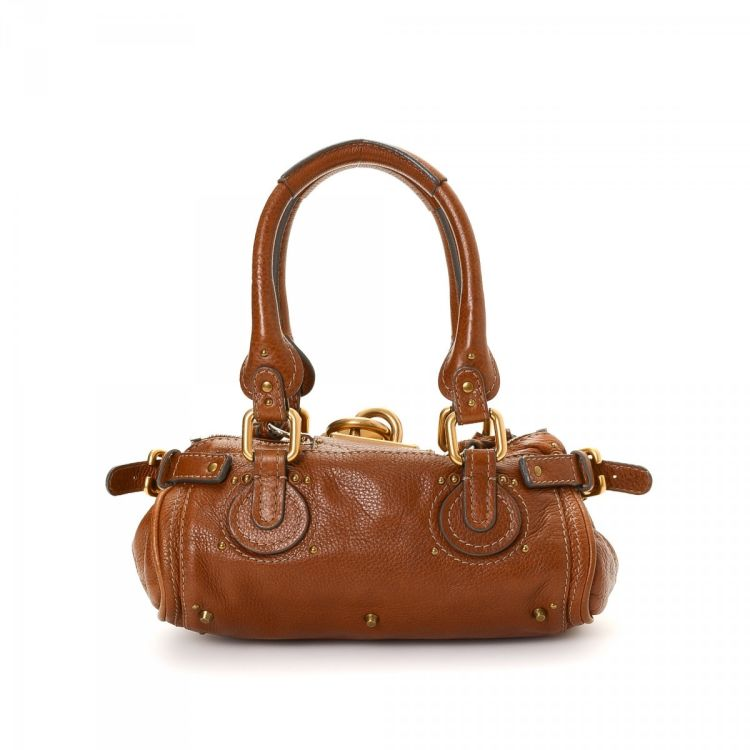 ec4a899105 LXRandCo guarantees this is an authentic vintage Chloé Paddington Mini  handbag. This everyday handbag was crafted in leather in brown.