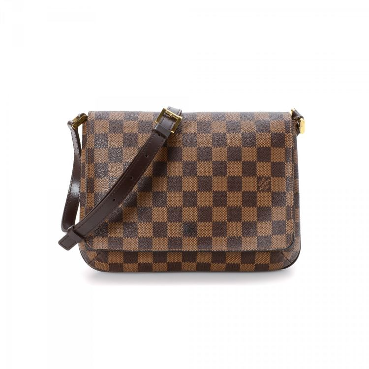 3eca0f79854c The authenticity of this vintage Louis Vuitton Musette Tango Short Strap  shoulder bag is guaranteed by LXRandCo. Crafted in damier ebene coated  canvas