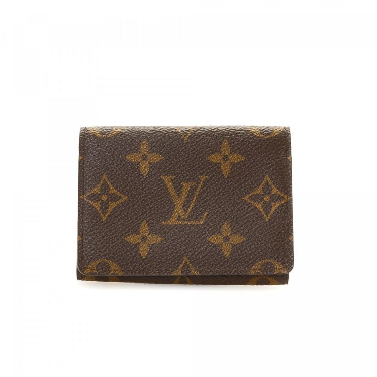 Louis Vuitton Business Card Holder Monogram Coated Canvas - LXRandCo ...