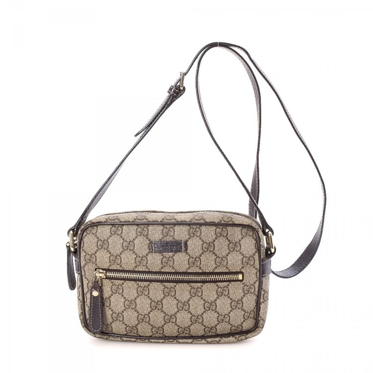 Gucci Crossbody Bag Gg Coated Canvas Lxrandco Pre Owned Luxury Vintage