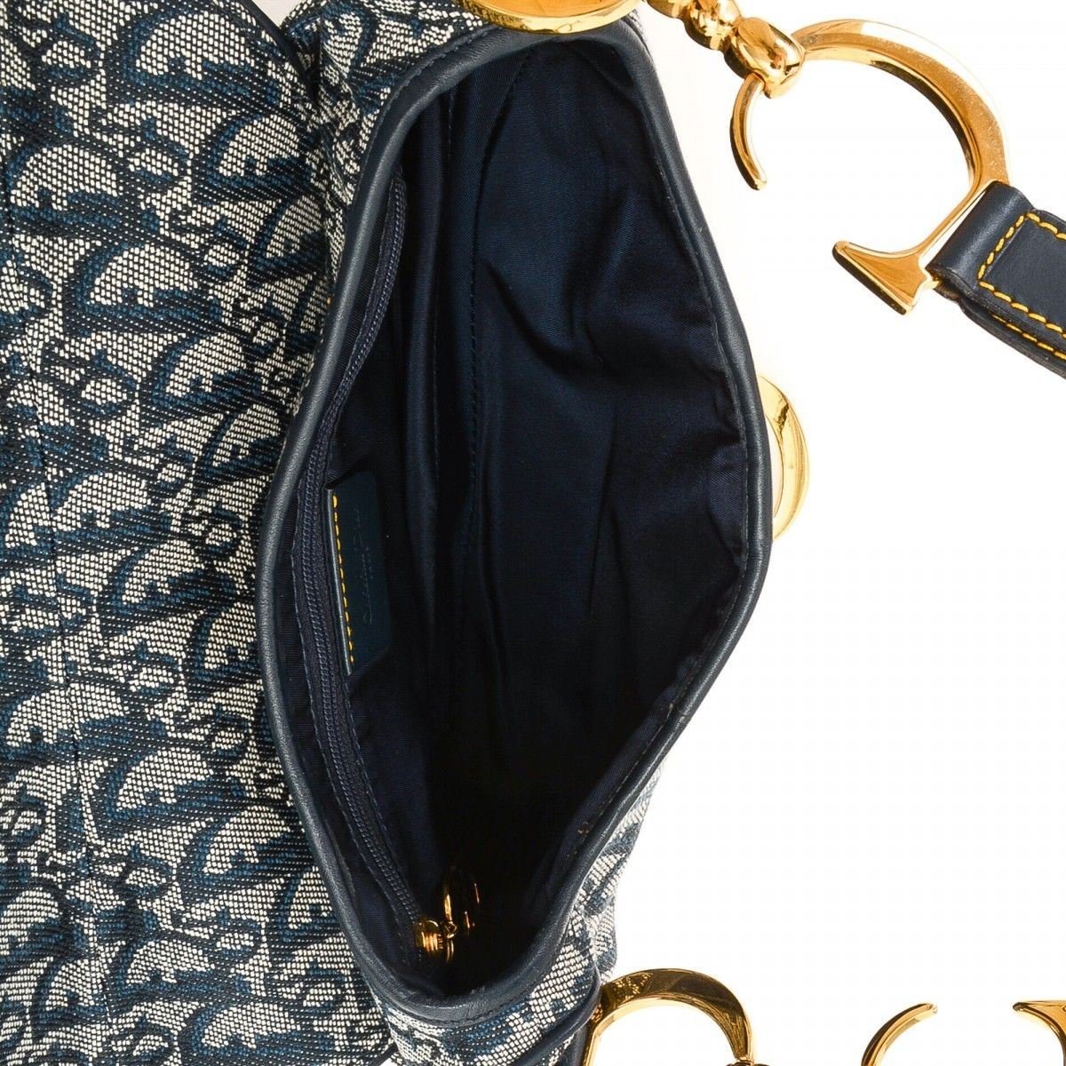 Dior Saddle Bag. LXRandCo guarantees this is an authentic vintage Dior  Saddle Bag handbag. This chic pocketbook in beautiful navy is made ... a1e743c7eb