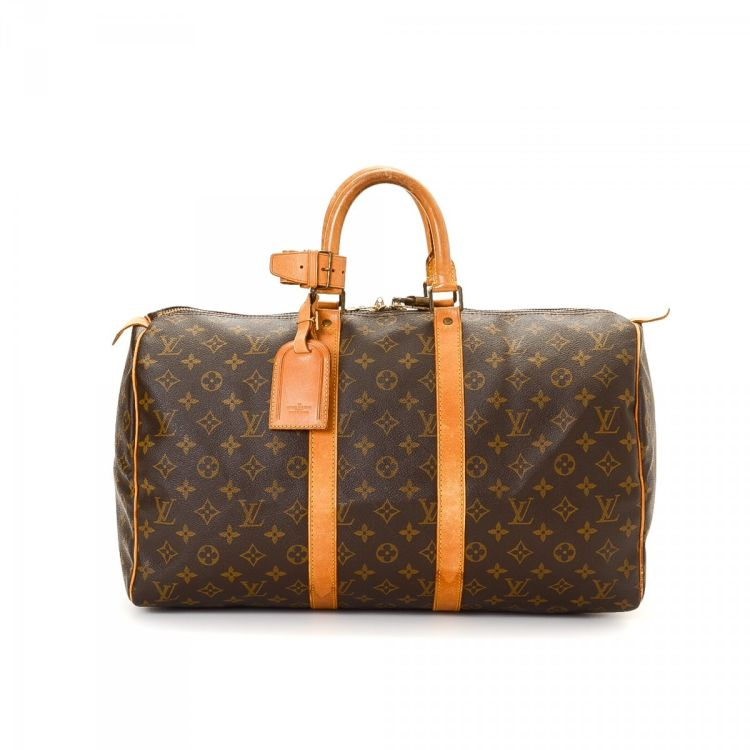 48adca46f03 Louis Vuitton Keepall 45 Monogram Coated Canvas - LXRandCo - Pre-Owned  Luxury Vintage