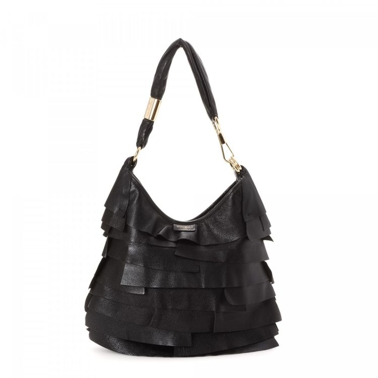 The authenticity of this vintage Yves Saint Laurent St. Tropez Ruffle Hobo Bag  shoulder bag is guaranteed by LXRandCo. This signature shoulder bag comes  in ... 8090bb8e32162