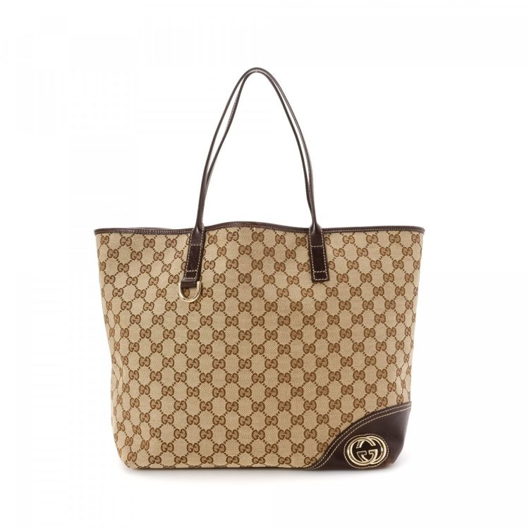 ae7062317112 Gucci Tote Bag GG Canvas - LXRandCo - Pre-Owned Luxury Vintage