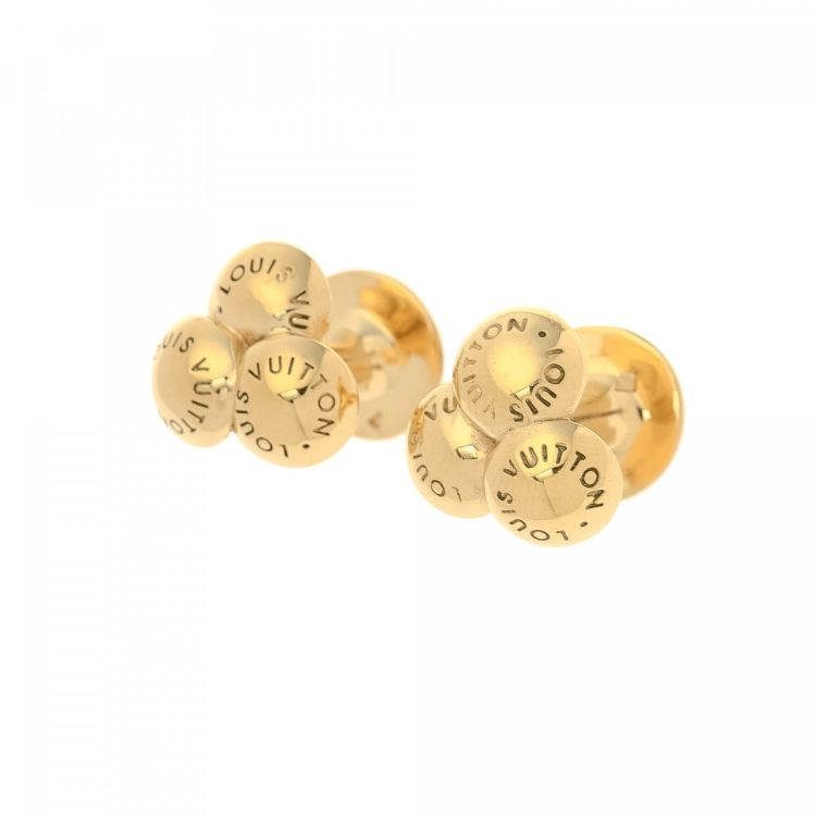 429f10665cbf LXRandCo guarantees the authenticity of this vintage Louis Vuitton Bouquet  de Clous s and Case cufflink. This sophisticated cufflink comes in beautiful  gold ...