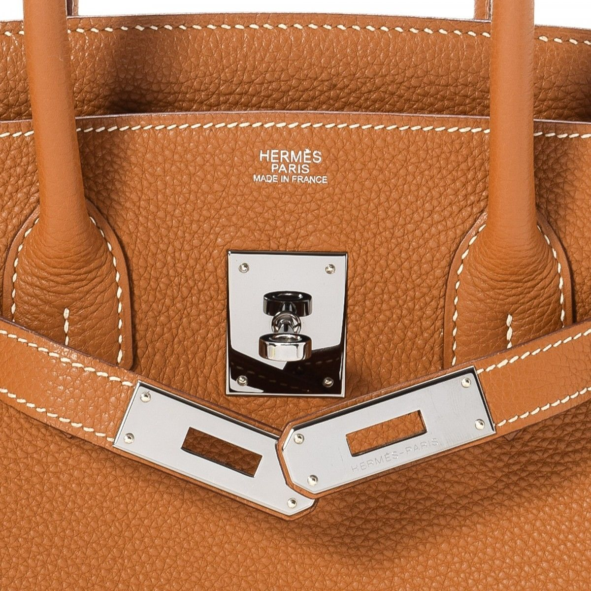 f26ba39ec0 Hermès Birkin 35 Gold Togo (Ruthenium Hardware). LXRandCo guarantees this  is an authentic vintage Hermès Birkin 35 Gold Ruthenium Hardware handbag.