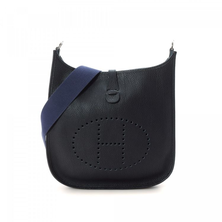 62b0155d40 ... greece lxrandco guarantees the authenticity of this vintage hermès  evelyne gm navy shoulder bag. this