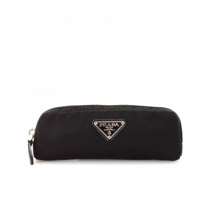 9183b170bba6 LXRandCo guarantees this is an authentic vintage Prada Key Pouch other  small leather good. This signature small leather good was crafted in  tessuto nylon in ...