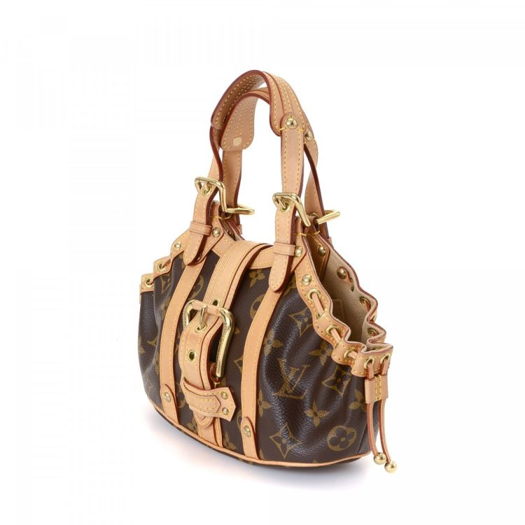 81f0fdb8fdda The authenticity of this vintage Louis Vuitton Theda PM handbag is  guaranteed by LXRandCo. This chic pocketbook in brown is made in monogram  coated canvas.