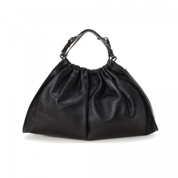 4dc24b011c7afd LXRandCo guarantees this is an authentic vintage Gucci Bag tote. This  exquisite large handbag comes in black leather. Very good condition* (A)