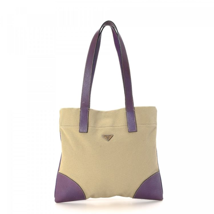 668252395a8f ... low cost prada canvas tote canvas lxrandco pre owned luxury vintage  54c8d 521b6