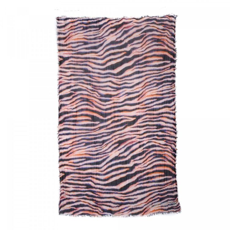 LXRandCo Guarantees The Authenticity Of This Vintage Louis Vuitton Zebra Stole Scarf Stylish In Beautiful Purple Is Made Silk