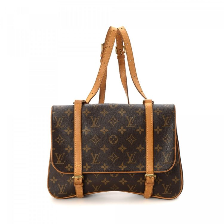 affae4f886a The authenticity of this vintage Louis Vuitton Marelle Sac a Dos backpack  is guaranteed by LXRandCo. Crafted in monogram coated canvas