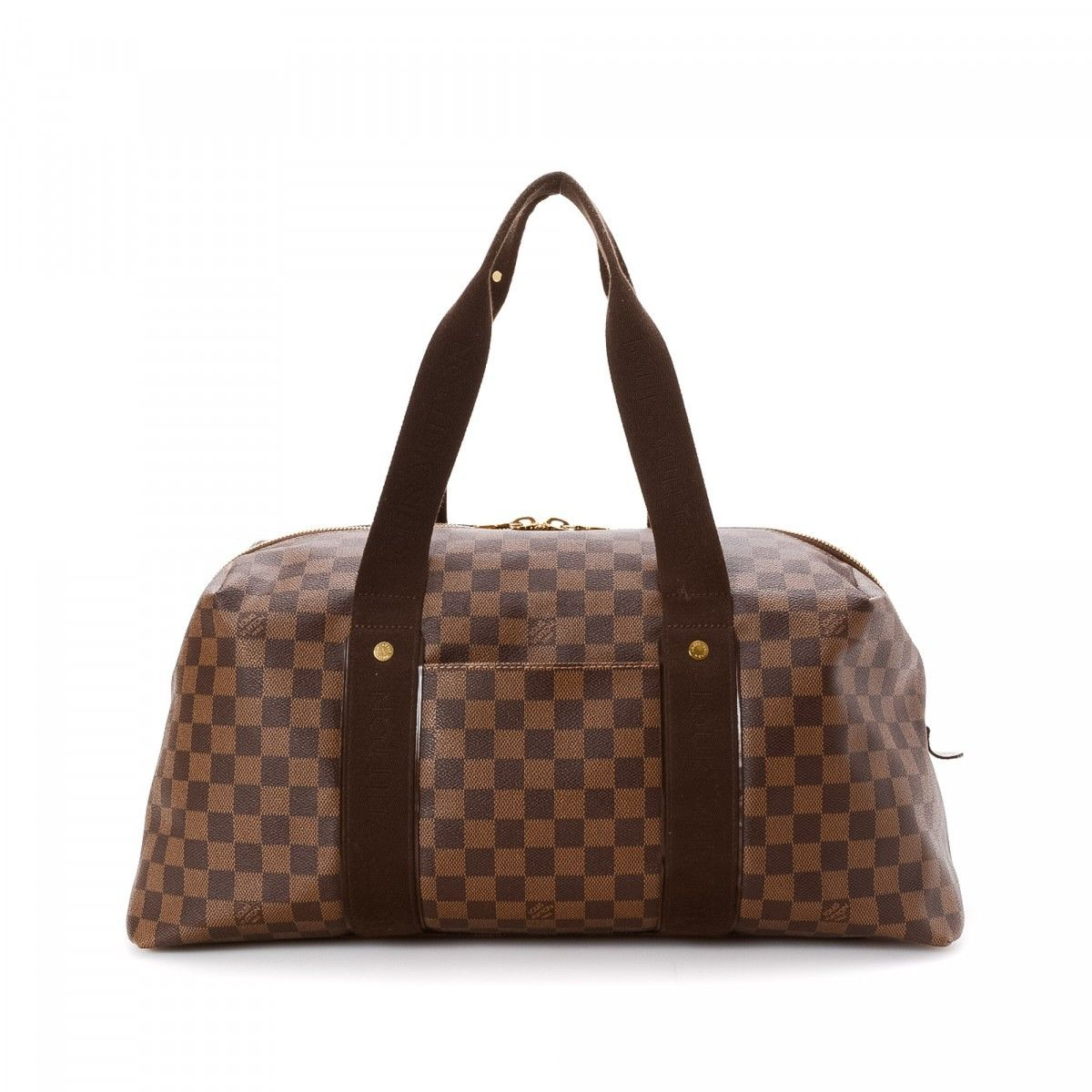 louis vuitton overnight bag. louis vuitton weekender beaubourg gm damier ebene coated canvas - lxrandco pre-owned luxury vintage overnight bag