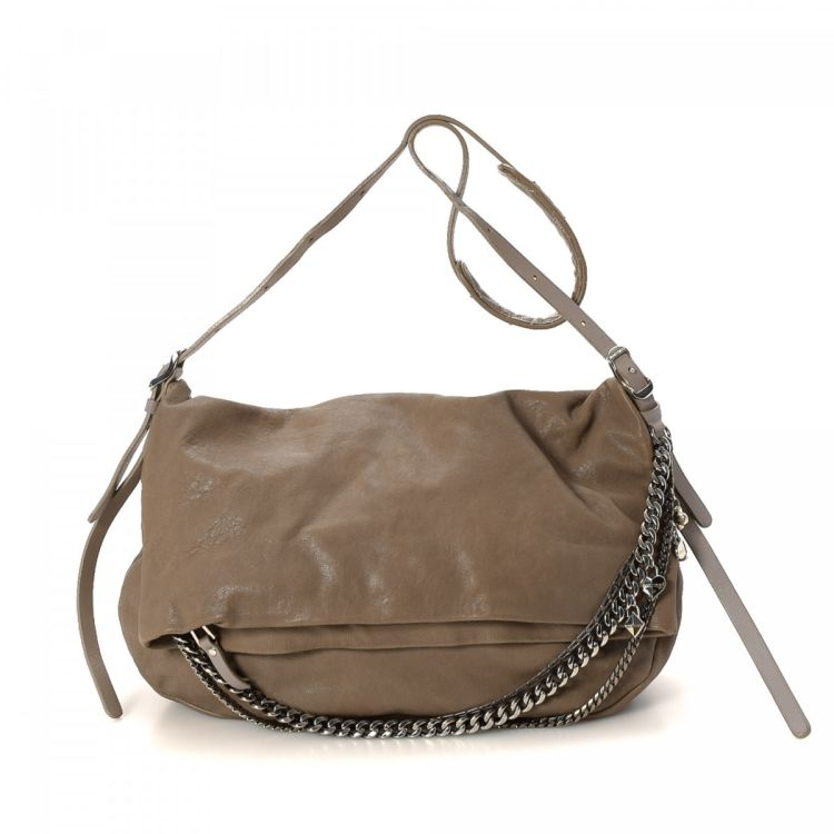 f8f1fde904d LXRandCo guarantees the authenticity of this vintage Jimmy Choo Biker  Messenger Bag messenger   crossbody bag. This beautiful hobo bag was  crafted in ...
