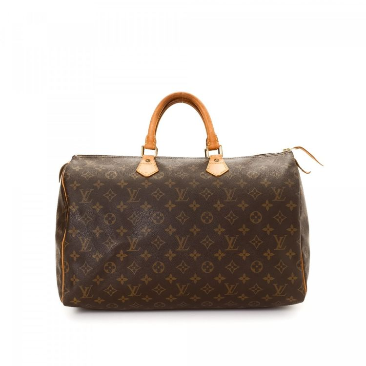 d8db09a2dee4 LXRandCo guarantees the authenticity of this vintage Louis Vuitton Speedy 40  handbag. Crafted in monogram coated canvas