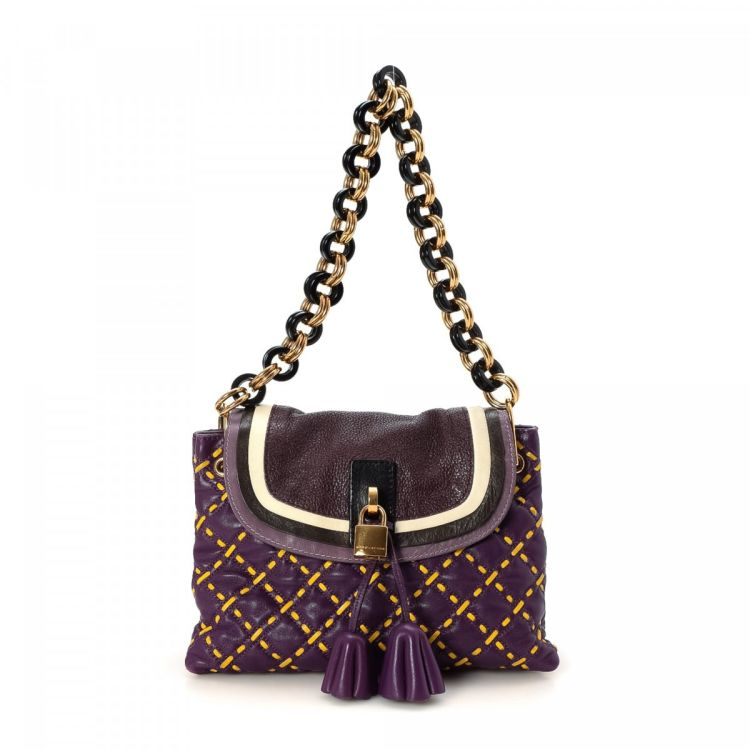 e62143b0dc6e Marc Jacobs Quilted Chain Shoulder Bag Leather - LXRandCo - Pre ...