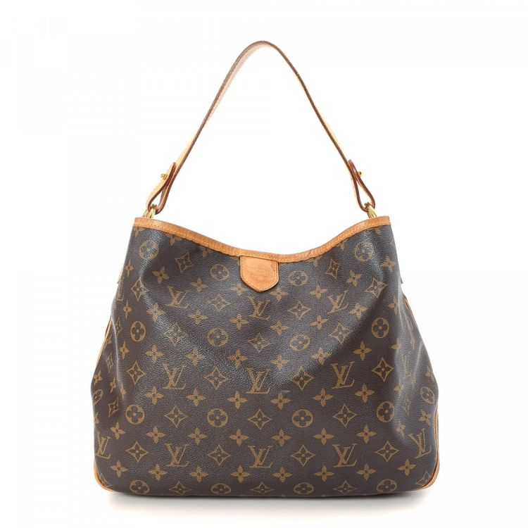 LXRandCo guarantees this is an authentic vintage Louis Vuitton Delightful PM  shoulder bag. This luxurious bag in beautiful brown is made in monogram  coated ... 3979bd4160421