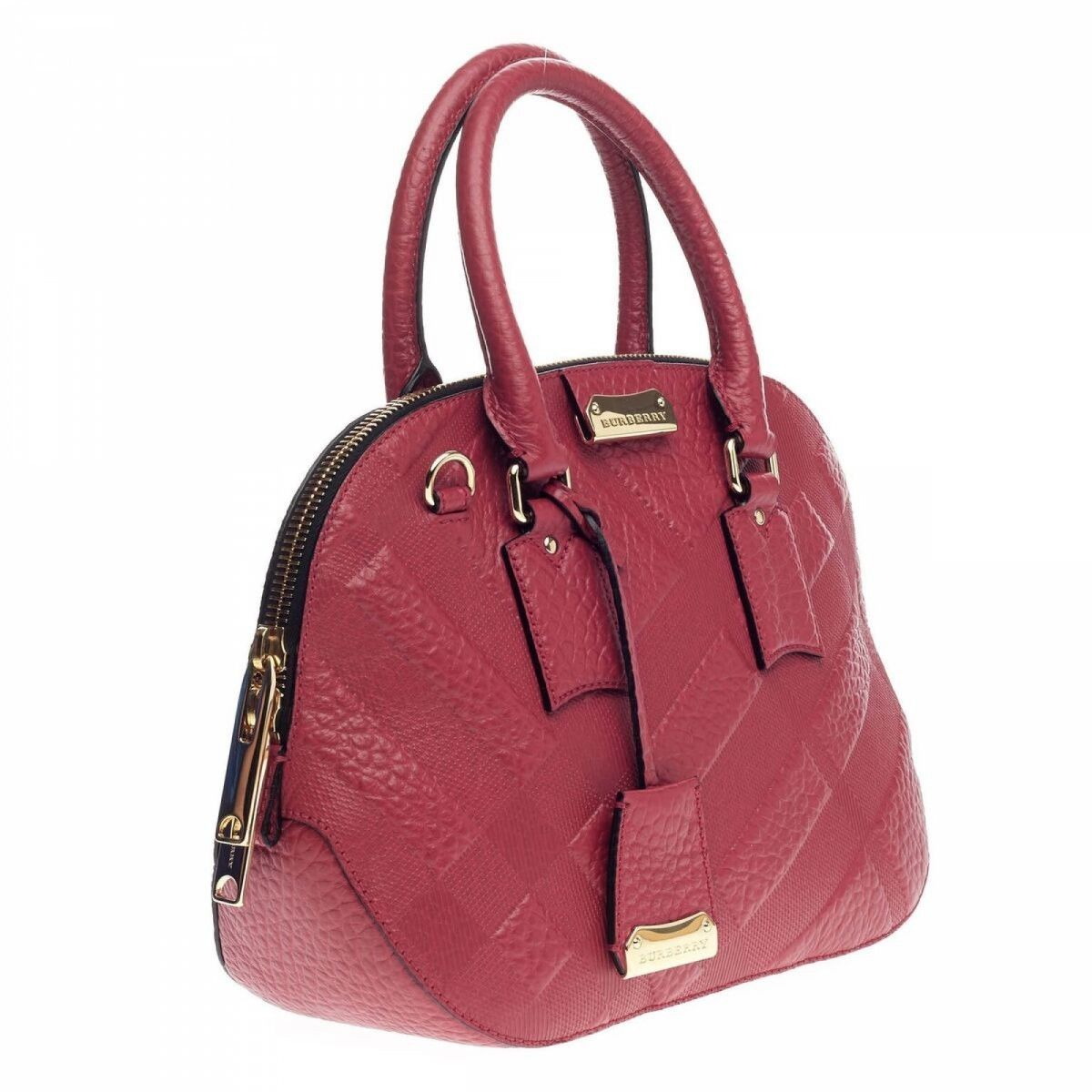5fcee5189fd Burberry Orchard Bag Embossed Check Leather Small Leather - LXRandCo ...