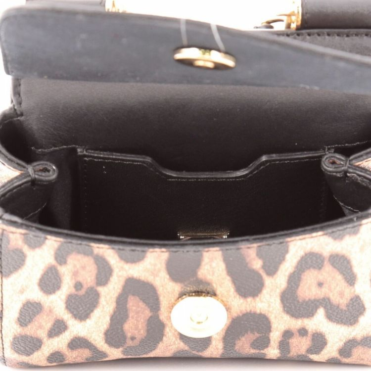 The authenticity of this vintage Dolce   Gabbana Miss Sicily Leopard Print Micro  handbag is guaranteed by LXRandCo. This elegant bag was crafted in leather  ... 5361d446ed