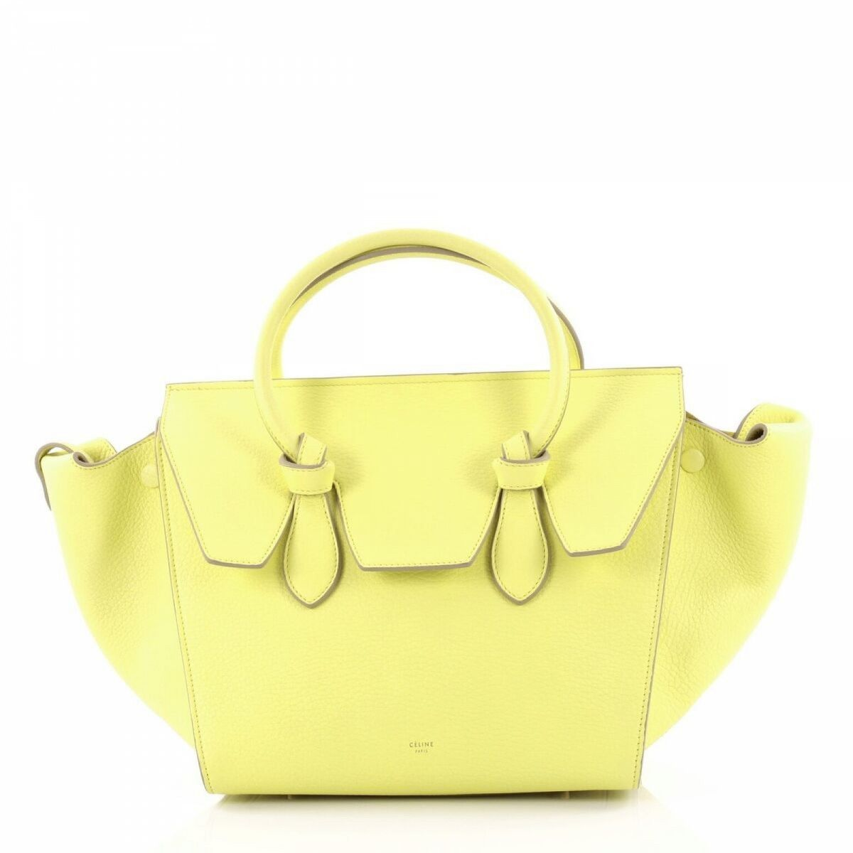 Céline Luge Tze New Runway Sunflower Small Tricolor Leather